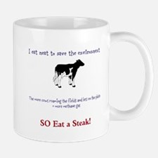 Eat meat-save the environment Mug