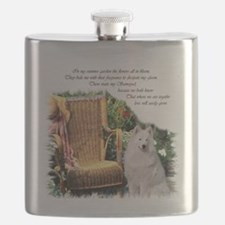 Samoyed Art Flask