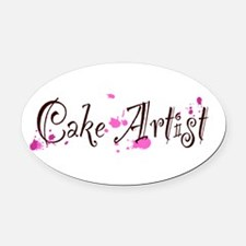 Cake Artist Oval Car Magnet