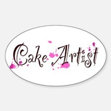 Cake Artist Sticker (Oval)