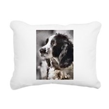 English Sp;ringer Spaniel Rectangular Canvas Pillo