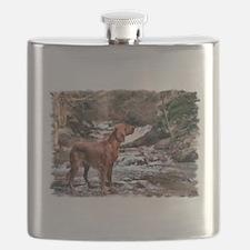 Irish Setter Art Flask