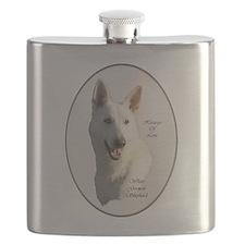 White German Shepherd Flask