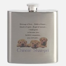 Shar-Pei Puppies Flask