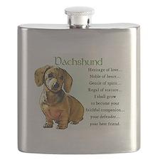 Dachshund Puppy Flask