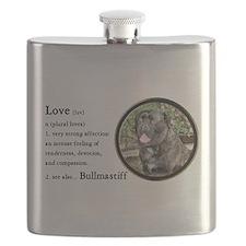 Bullmastiff Love Is Flask