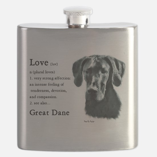 Black Great Dane Flask