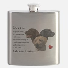 Labrador Retriever Love Flask