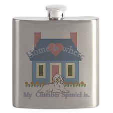 Clumber Spaniel Flask