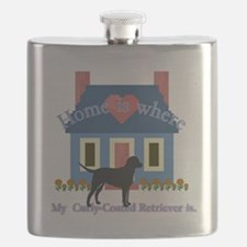 Curly Coated Retriever Flask