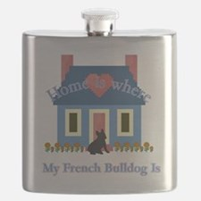 French Bulldog Home Is Flask