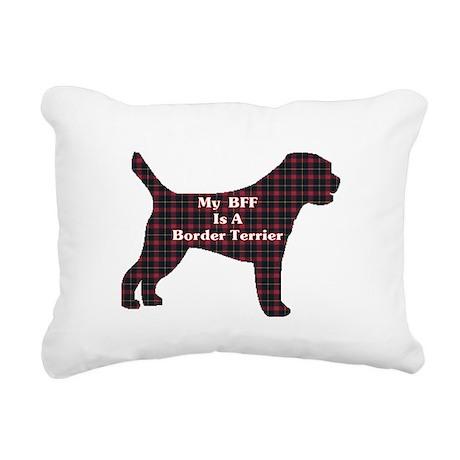 BFF Border Terrier Rectangular Canvas Pillow