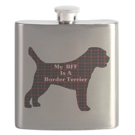 BFF Border Terrier Flask