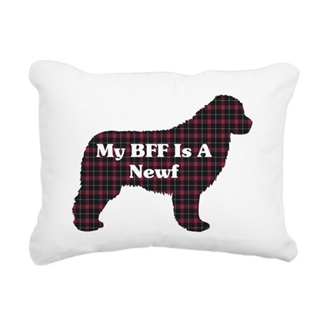 BFF Newfoundland Rectangular Canvas Pillow