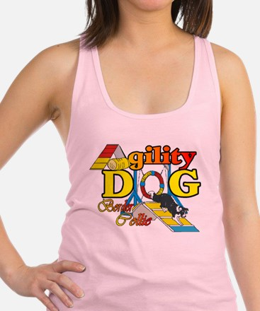 agility border aframe trans.png Racerback Tank Top