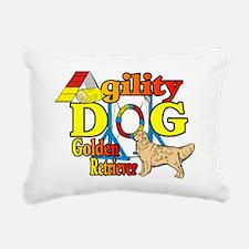 golden agility f.png Rectangular Canvas Pillow