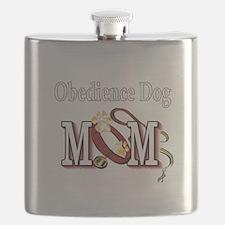 Obedience Dog Mom Flask