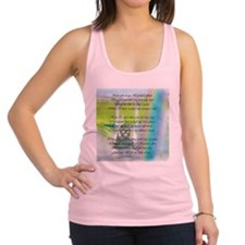 now i sit middle rectangle.png Racerback Tank Top
