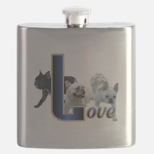 French Bulldog Love Flask