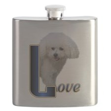 Bichon Frise Love Flask