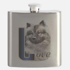 Keeshond Love Flask