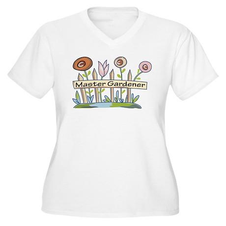 Master Gardener Women's Plus Size V-Neck T-Shirt