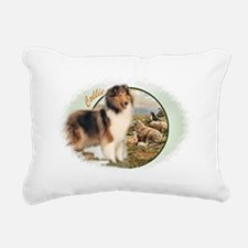collie shepherd dog Rectangular Canvas Pillow
