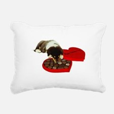 Collie Valentines Day Rectangular Canvas Pillow