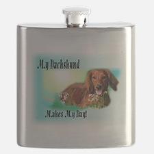 Dachshund_Makes My Day Flask
