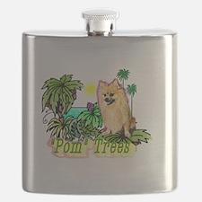Pomeranian_Pun Intended Flask