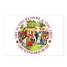 Too Blonde and Too Thin Postcards (Package of 8)