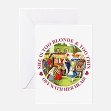 Too Blonde and Too Thin Greeting Card