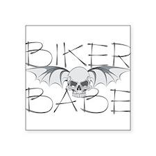 "bikerbabec.png Square Sticker 3"" x 3"""