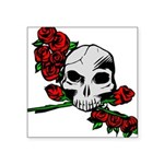 Rose Skull Square Sticker 3