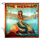 Mermaid shower curtains Shower Curtains
