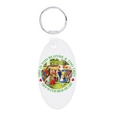 Too Blonde and Too Thin Keychains