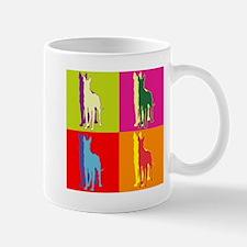 Great Dane Silhouette Pop Art Mug