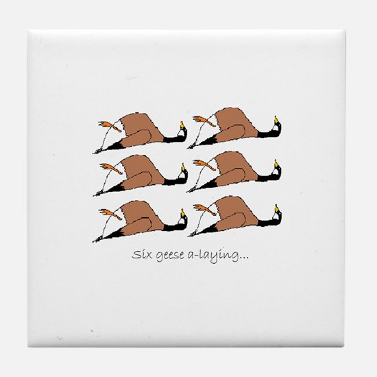 Six geese a-laying... Tile Coaster