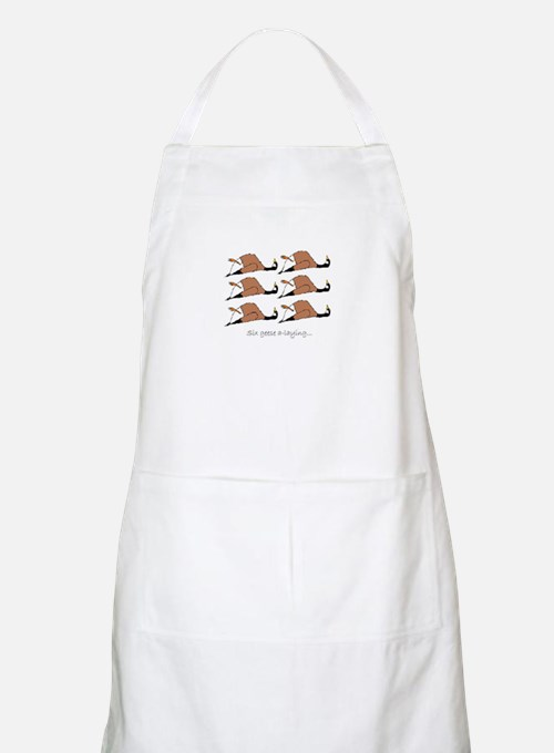 Six geese a-laying... Apron
