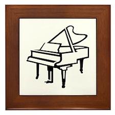 Grand piano Framed Tile