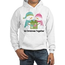 1st Christmas Together Snowmen Hooded Sweatshirt