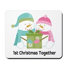 1st Christmas Together Snowmen Mousepad