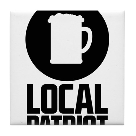 Local Patriot Beer Tile Coaster