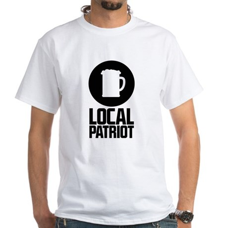 Local Patriot Beer White T-Shirt