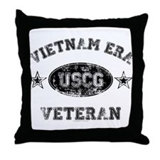 Vietnam Era Vet USCG Throw Pillow