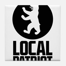 Local Patriot Bear Tile Coaster
