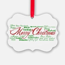 Merry Christmas language Ornament