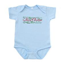 Merry Christmas language Infant Bodysuit