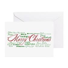 Merry Christmas language Greeting Cards (Pk of 10)
