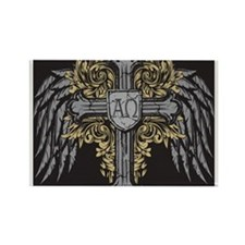 Winged Cross Rectangle Magnet
